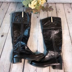 Tory Burch Brown patent Leather & leather boots